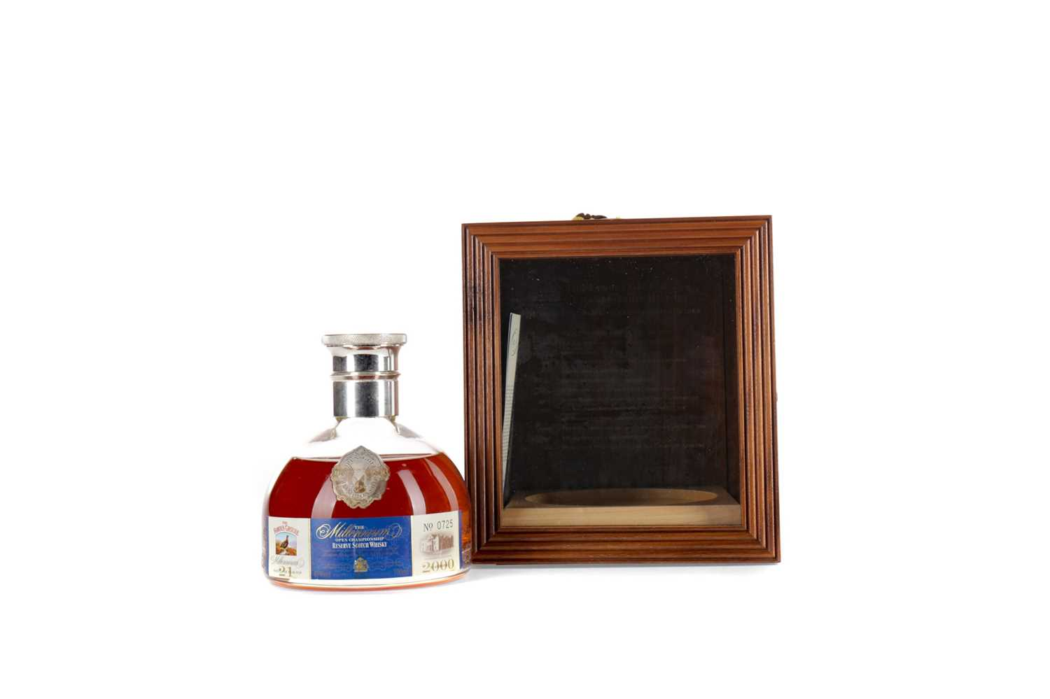 Lot 70 - THE FAMOUS GROUSE MILLENNIUM DECANTER 21 YEARS OLD - OPEN GOLF CHAMPIONSHIP