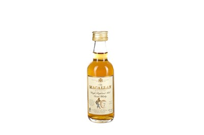 Lot 202 - MACALLAN 7 YEARS OLD GIOVINETTI & FIGLI IMPORT MINIATURE