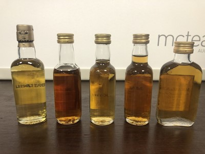 Lot 208 - FIVE MACALLAN SINGLE MALT WHISKY MINIATURES