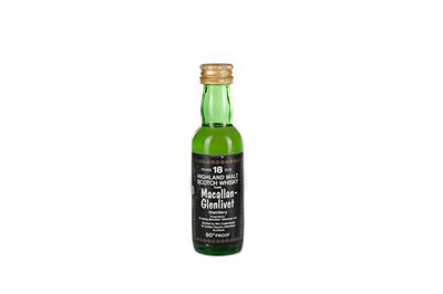 Lot 209 - MACALLAN-GLENLIVET CADENHEAD 18 YEARS OLD MINIATURE