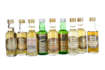 Lot 74 - NINE GLENTURRET SINGLE MALT WHISKY MINIATURES