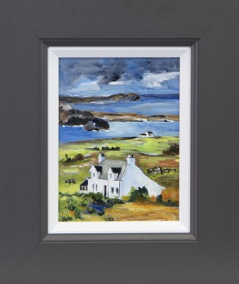 Lot 241 - WEE CROFT, ISLE OF MULL, AN OIL BY CAROLINE WEST