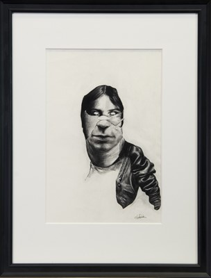 Lot 244 - AN UNTITLED CHARCOAL BY JIM DICK