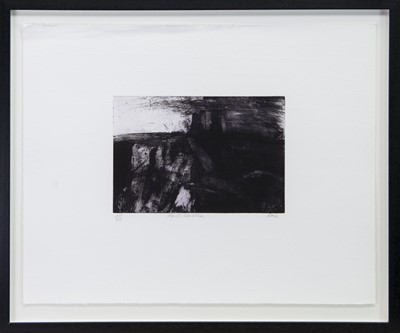 Lot 257 - FAST CASTLE, AN ETCHING BY BARBARA RAE