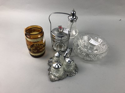 Lot 155 - A PAIR OF BRANDY GLASSES AND OTHER GLASSWARE