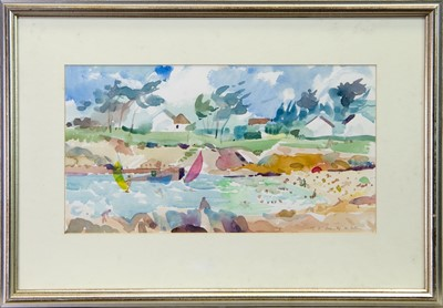 Lot 269 - KERFANY-LES-PINS, BRITTANY, A WATERCOLOUR BY TOM SHANKS
