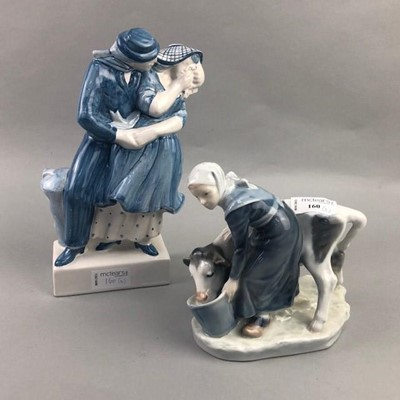 Lot 160 - A ROYAL COPENHAGEN FIGURE AND ANOTHER