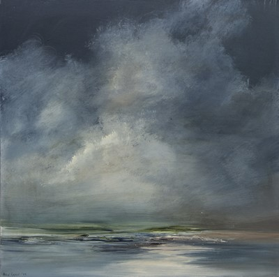 Lot 523 - THE STORM PAST UIST, AN OIL BY PHILIP RASKIN
