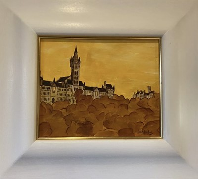 Lot 270 - GLASGOW UNIVERSITY, AN OIL BY IAIN CARBY
