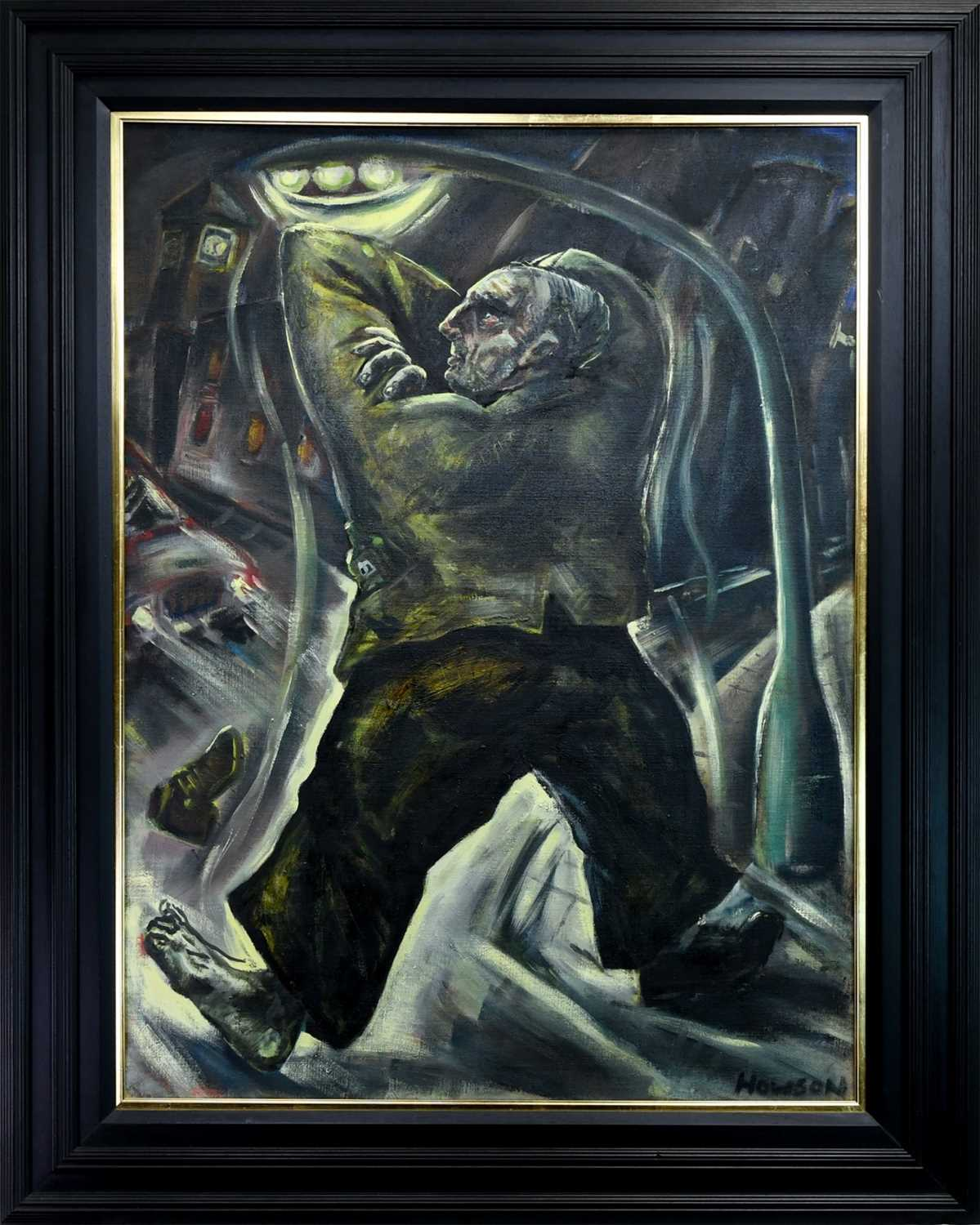 Lot 109 - MORAUCOULOUS, AN OIL BY PETER HOWSON