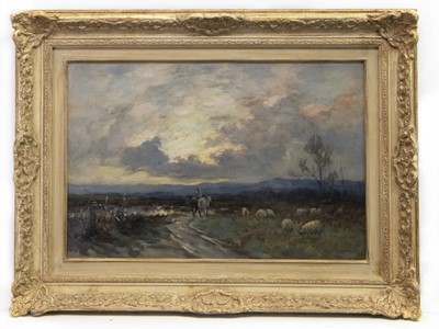 Lot 71 - GOING HOME, AN OIL BY JOSEPH MILNE
