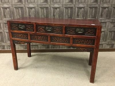 Lot 863 - A 20TH CENTURY CHINESE SIDE BOARD