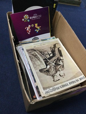 Lot 34 - A BOX OF MAGAZINES AND EPHEMERA