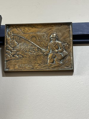 Lot 35 - A LOT OF TWO COPPER PANELS IN THE MANNER OF JOHN PEARSON AND A PLAQUE