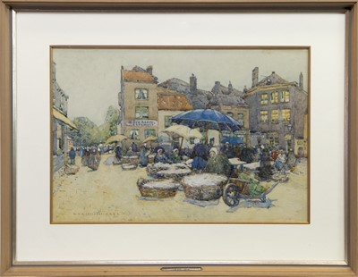 Lot 72 - MARKET DAY, A WATERCOLOUR BY ROBERT COVENTRY