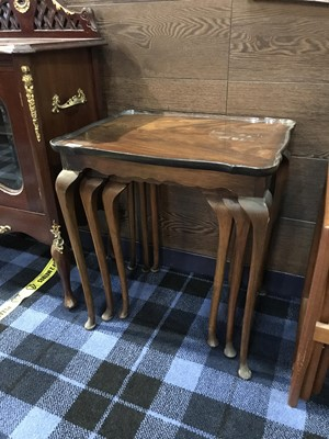 Lot 40 - A NEST OF THREE TABLES AND ANOTHER