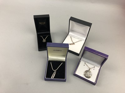 Lot 44 - A LOT OF CONTEMPORARY SILVER JEWELLERY