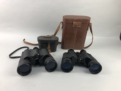 Lot 54 - A LOT OF TWO PAIR OF BINOCULARS AND TWO RELATED CASES
