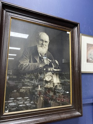 Lot 202 - A LARGE PRINTED PORTRAIT OF LORD KELVIN