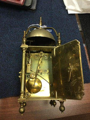 Lot 1713 - A 17TH CENTURY AND LATER LANTERN CLOCK BY CHARLES GRETTON