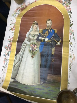 Lot 203 - A PRINT OF TH PRINCESS VICTORIA MARY AND THE DUKE OF YORK