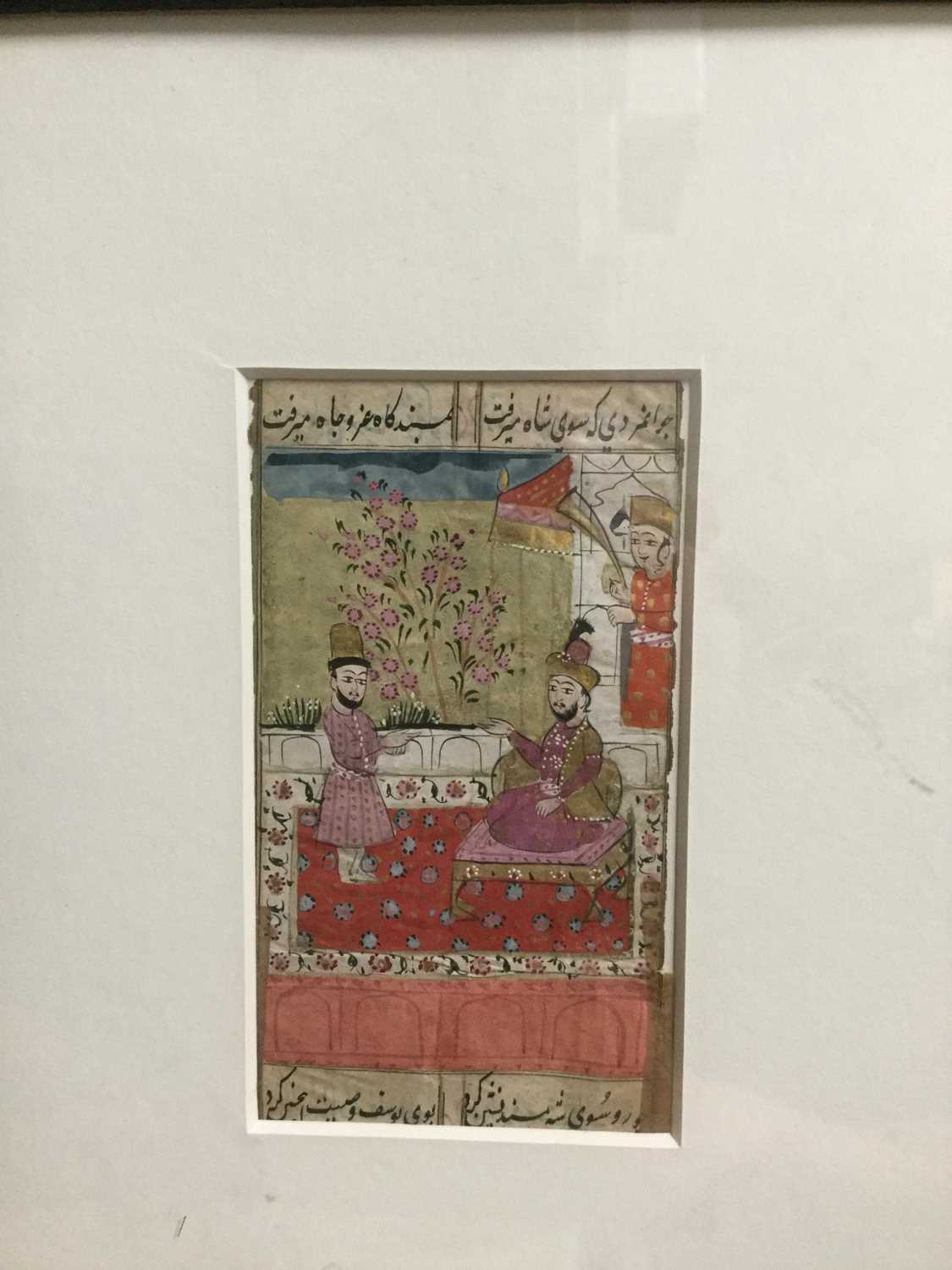 Lot 865 - A LOT OF TWO 19TH CENTURY INDIAN SCHOOL MINIATURE PAINTINGS