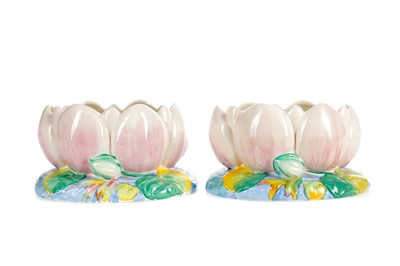 Lot 1014 - A PAIR OF CLARICE CLIFF FOR NEWPORT POTTERY BOWLS