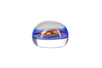 Lot 1002 - A PAUL YSART FOR HALAND BUTTERFLY PAPERWEIGHT