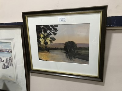 Lot 105 - A WATERCOLOUR BY ROBERT EADIE RSW AND OTHER PAINTINGS