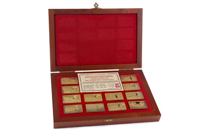 Lot 15 - A COLLECTION OF GOLD PLATED CENTENARY OF WINSTON CHURCHILL INGOTS