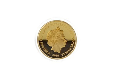 Lot 24 - RARE: A 2oz FINE GOLD WHISKY COIN BY LUX COIN
