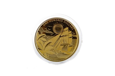 Lot 28 - RARE: A 2oz FINE GOLD RUM COIN BY LUX COIN