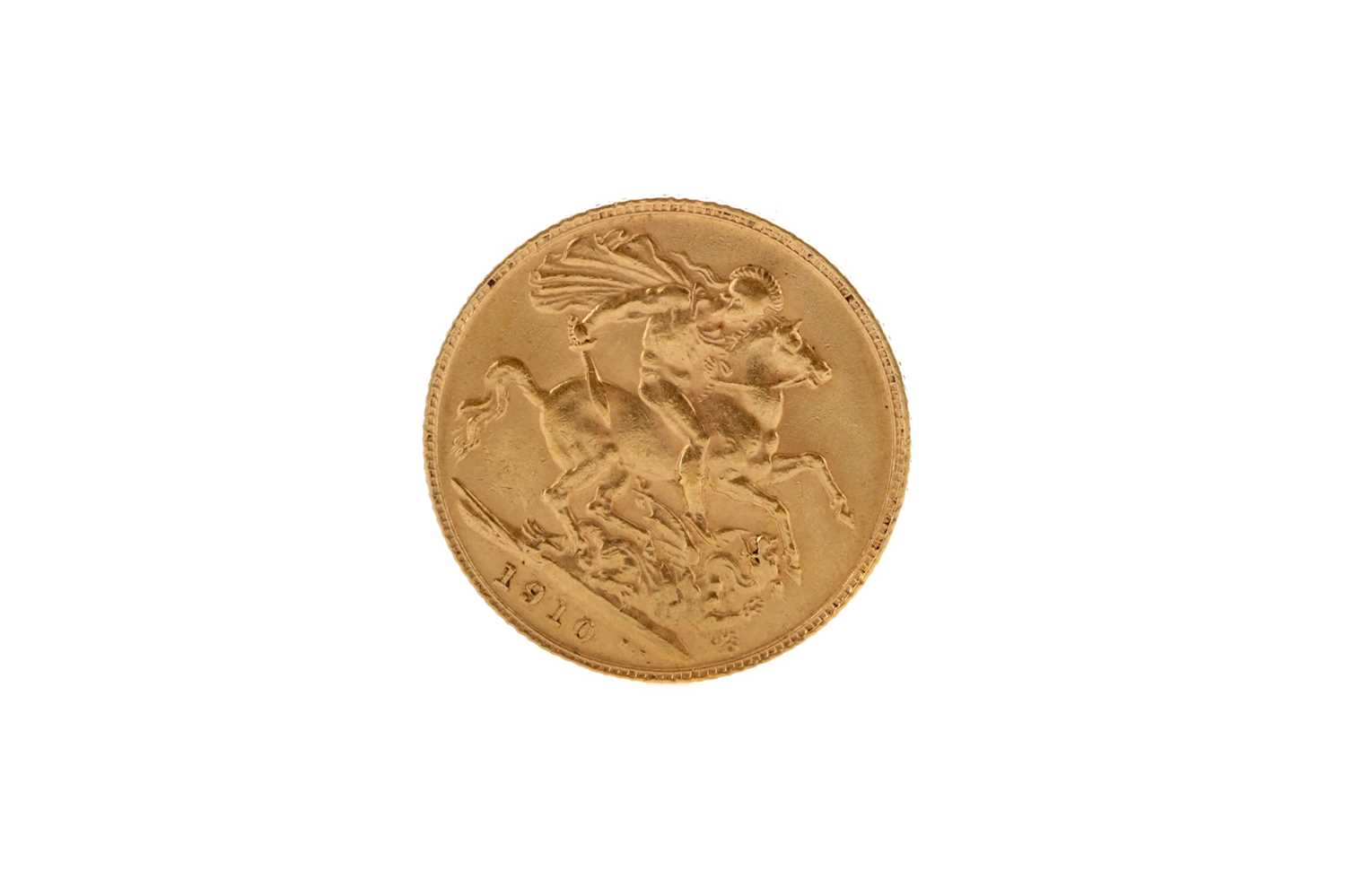 Lot 20 - A GOLD SOVEREIGN DATED 1910