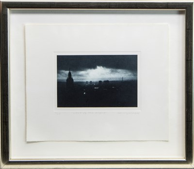 Lot 39 - LAST OF THE LIGHT, AN ETCHING BY HARRY MAGEE