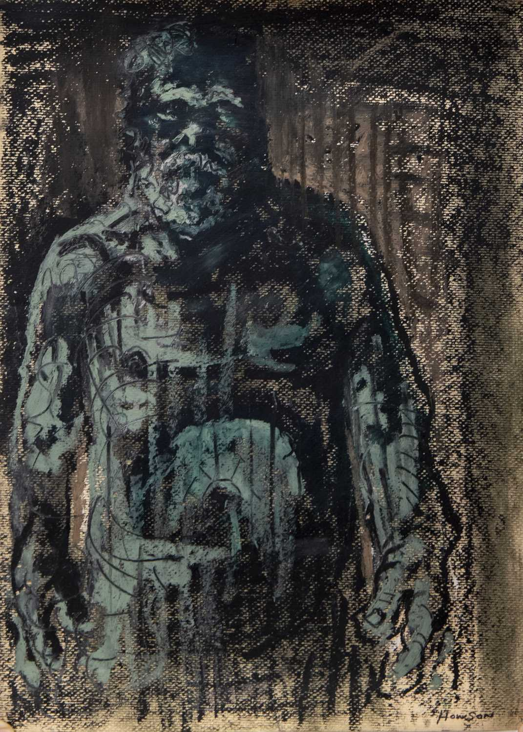 Lot 507 - AN UNTITLED AND UNFRAMED PASTEL BY PETER HOWSON