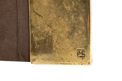 Lot 1307 - AN IMPORTANT GLASGOW SCHOOL ARTS & CRAFTS BRASS DESK BLOTTER BY MARGARET GILMOUR