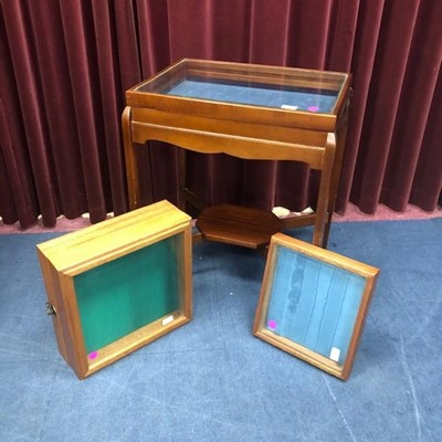 Lot 110 - A LOT OF OF THREE COLLECTORS DISPLAY CABINETS
