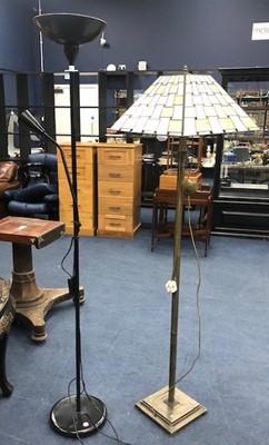 Lot 130 - A MODERN STANDARD LAMP AND A MODERN UPLIGHTER