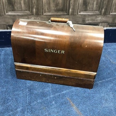 Lot 74 - A VINTAGE SINGER SEWING MACHINE