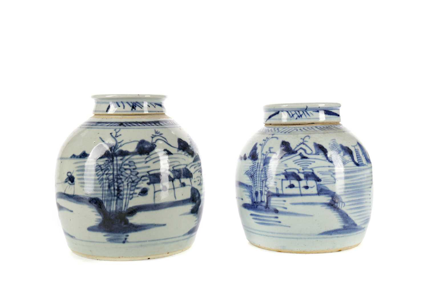 Lot 731 - A LOT OF TWO EARLY 20TH CENTURY CHINESE GINGER JARS AND COVERS