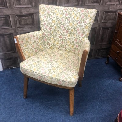 Lot 188 - A RETRO TUB CHAIR AND ANOTHER TUB CHAIR
