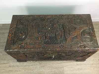 Lot 726 - A CHINESE CAMPHORWOOD BLANKET CHEST