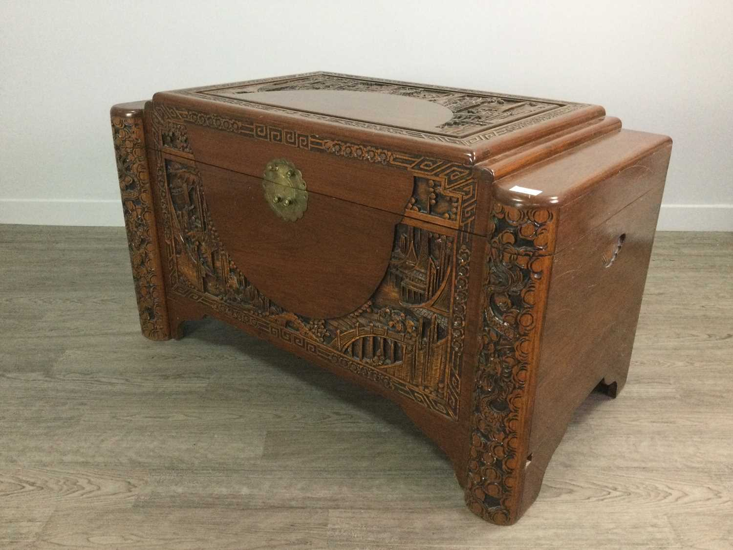 Lot 716 - A CHINESE CAMPHORWOOD BLANKET CHEST