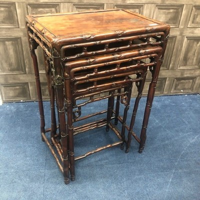 Lot 721 - A CHINESE NEST OF FOUR TABLES