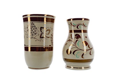 Lot 1021 - A LOT OF TWO GRAYS POTTERY VASES