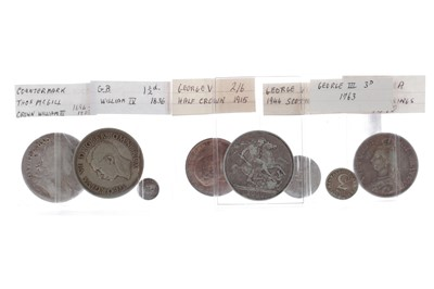 Lot 35 - A WILLIAM III COUNTERMARKED CROWN