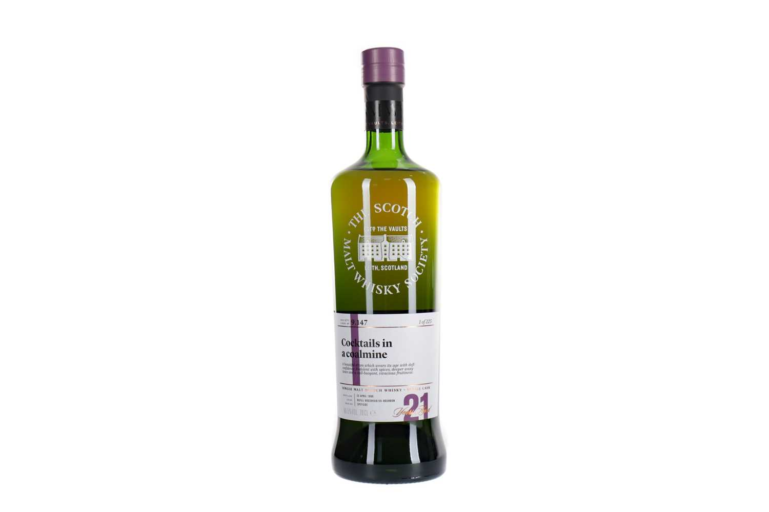 Lot 99 - GLEN GRANT 1996 SMWS 9.147 AGED 21 YEARS
