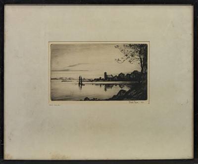 Lot 435 - EVENING-ASCOG, BUTE, AN ETCHING BY ANDREW NAIRN