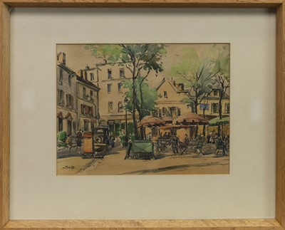 Lot 434 - AFTERNOON IN THE CITY, A WATERCOLOUR