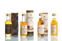 Lot 698-LOT OF FIVE MACALLAN MINIATURES To include 15...